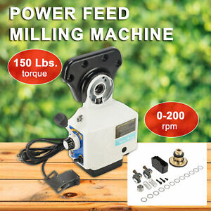 Power Table Feed Mill Fits Bridgeport Acer 0 210prm Power Feed X axis Torque