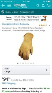 Youngstown Kevlar Water Proof Cut Resistant Fr Gloves size L