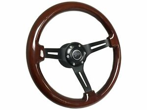 1968 1973 Mercury Cougar S6 Mahogany Finish Wood Steering Wheel Black Kit