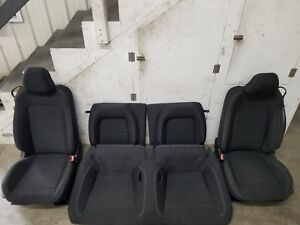 2015 2017 Ford Mustang Gt Black Cloth Front rear Seats Oem