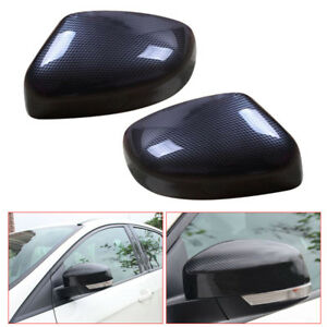 2pcs Carbon Fiber Rearview Mirrors Cover Cup Fit For Ford Focus 2012 2018