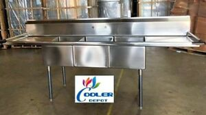 New 102 Stainless Steel Sink 3 Compartment Commercial Kitchen Restaurant Nsf