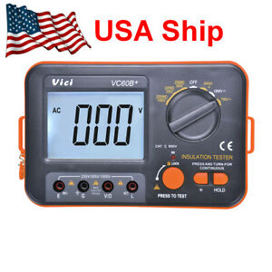 Us Ship Vc60b Digital Insulation Resistance Megger Megohmmeter Meter Tester