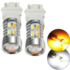 2x 5730 Chip 3157 Dual Color Switchback Smd High Power Led Tail Brake Bulb Light