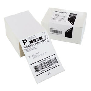 2000 4x6 Fanfold Direct Thermal Shipping Labels For Zebra And Rollo Printers