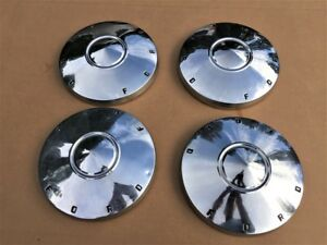 1961 1962 Ford Fairlane 9 5 Dog Dish Hubcaps Stainless Oem Set Of 4 Clean used