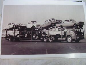 New 1963 Ford On Carrier T Bird Falcon Fairlane Trucks 11 X 17 Photo Picture