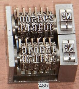 Letterpress Numbering Machine key Lot Of 2