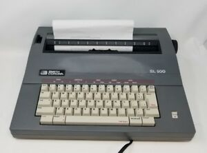 Smith Corona Sl 500 5a Portable Electric Typewriter With Keyboard Cover Working