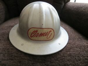 Vintage Aluminum Hard Hat With Leather Insert B F Mcdonald Los Angeles