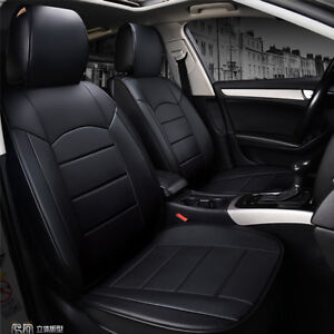 Full Set Universal Breathable 5 seat Front Rear Pu Leather Seat Cover For Car