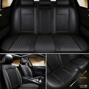 Full Set Pu Leather Car Seat Cover Cushion Front Rear Split Type Seat Cushion