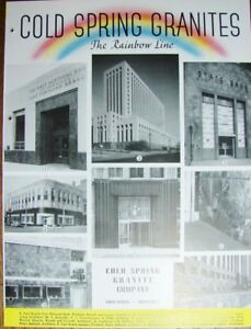 1947 Cold Spring Granite Co Rainbow Colors Commercial Buildings Vintage Catalog