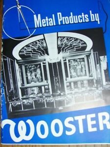 1938 Wooster Ohio Metal Products Art Deco Architectural Installations Catalog
