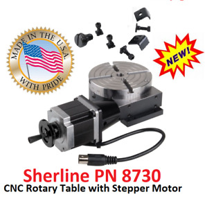 Sherline Pn 8730 Cnc Rotary Table With Stepper Motor