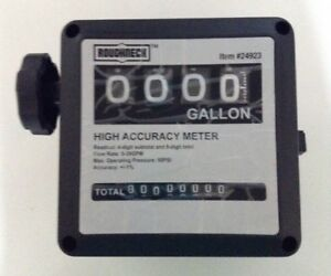 Roughneck 1in Mechanical Fuel Meter With 3 4in Adapters 5 32 Gpm Flow Rate