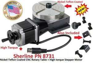Sherline Pn 8731 Nickel teflon Coated Cnc Rotary Table High Torque Step Motor
