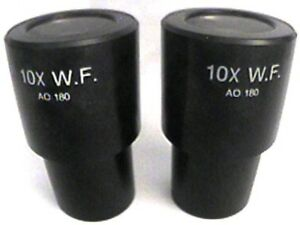 Ao American Optical Microscope 10x Cat No 180 Widefield Eyepieces