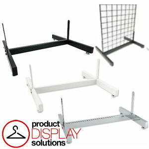 Free Shipping Grid Gridwall Deluxe Base Grid Stand Black White Or Chrome