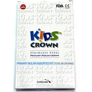 96 Crowns Kids Crown stainless Steel Primary Molar Certified By Fda Ce