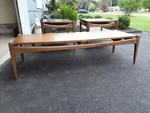 Mid Century Modern Eames Era Coffee And Pr End Tables Danish