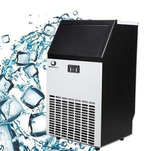 100lb Stainless Steel Commercial Undercounter Ice Maker Machine Air Cooled Cube