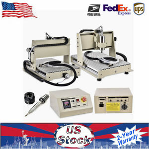 3x 6040 Cnc Router Engraving Drilling Engraver Machine Carving Cutter Well Made
