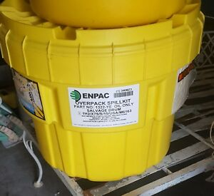 Enpac Overpack Spill Kit Yellow1320 ye Oil Only Salvage Drum 20 Gallons 30 Lbs