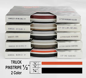 Half Inch Wide 2 Color Truck Pinstripe 1 2 X 150 Accent Striping