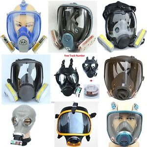 Painting Chemical Face Mask Silicone Gas Respirator Spray Full Face Dust Filters