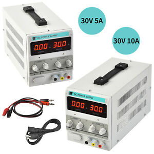 30v 10a 5a Dc Power Supply Adjustable Variable Dual Led Display Digital Lab Test
