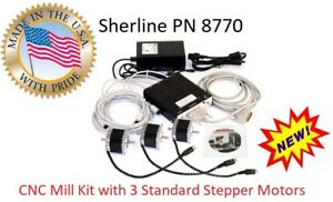 Sherline Pn 8770 4 Axis Cnc Controller Power Supply 3 Standard Stepper Motors