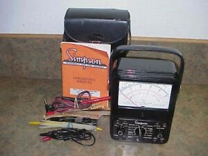 Simpson 260 Multimeter Milliammeter Series 5 Volt Ohm Vom Probes Manual Hardcase