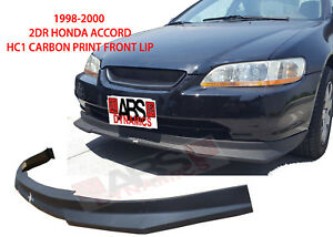 Hc1 Carbon Print Style Front Lip For 1998 2000 Honda Accord Coupe Nonv6