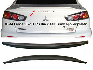 08 14 Lancer Evo X Mr Gts Gt Sedan Duck Tail Trunk Lip Spoiler Black Pp Tape