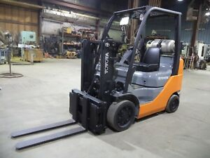2010 Toyota 8fgcu25 5 000 5000 Cushion Tired Forklift Trucker Spec Scale