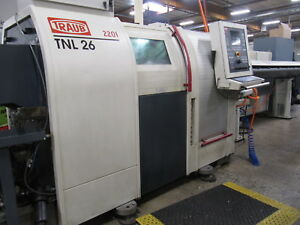 2001 Traub Tnl 26 Cnc Swiss Turn Lathe Turn Center W Live Tooling