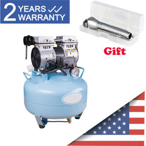 32l Silent Noiseless Oilless Air Compressor Motor For Dental Chair 3way Syringe