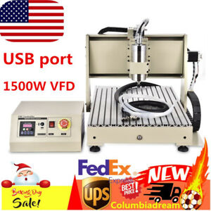 Usb Port 3 Axis Cnc 6040 Router Spindle Engraver Drilling Milling Machine 1 5kw