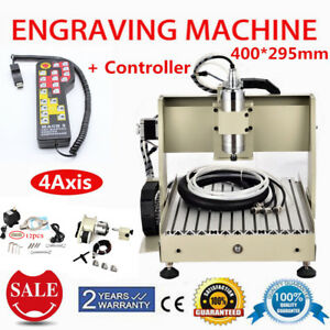 800w 3040 Cnc Router Engraver 4axis Wood Milling Machine W controller 3d Carving