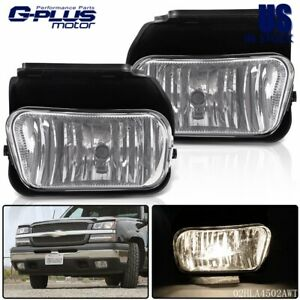For Chevy Silverado 03 06 1500 2500 3500 Bumper Driving Fog Lights Bulbs 04 05