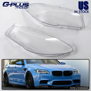Fit For Bmw F10 F18 520 523 525 535 530 2010 14 Headlight Clear Cover Lens