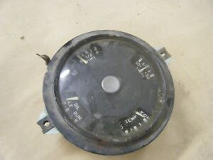 Vintage Truck Gauge Temp Fuel Amps Oil Rat Rod