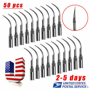 50 Dental Perio Tips Pd1 For Satelec Dte Nsk Ultrasonic Scaler Handpiece Us