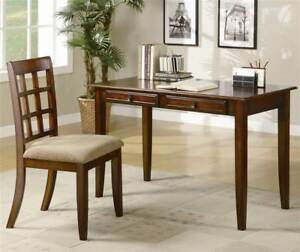 Table Desk W Chair In Rich Natural Finish id 126156