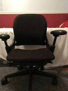 Steelcase Executive Office Chair Leap Black Fully Loaded