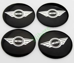 2 2 Black Auto Car Wheel Center Hub Caps Cover Emblem Badge Sticker For Mini