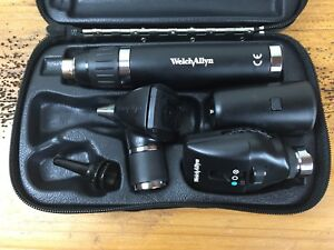 Welch Allyn Diagnostic Set Lithium Handle Otoscope 20000a Ophthalmoscope 11720
