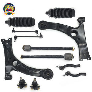 12pc Control Arm Ball Joint Sway Bar Tie Rod Kit For 2003 2008 Toyota Corolla