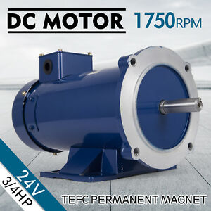 Dc Motor 3 4hp 56c 24v 1750rpm Tefc Magnet Applications Continuous Permanent